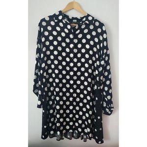 Zara Polka Dot shirt dress
